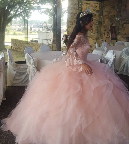 Image of Pink-Dress-Quinceanera-Dress