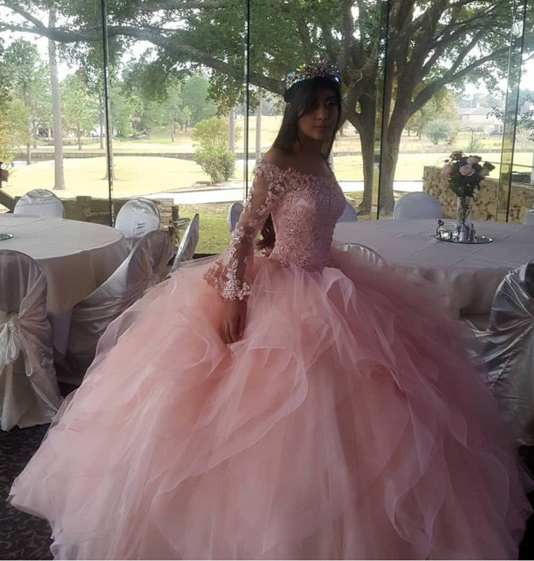 21befc7b400 Double tap to zoom · vestidos de quinceanera. Double tap to zoom · Light  Pink Organza Ruffles Ball Gowns Quinceanera Dresses ...