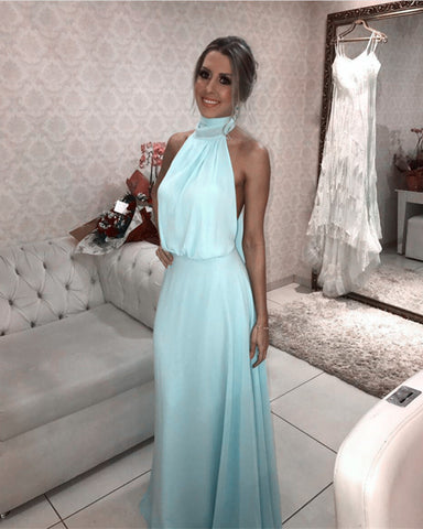 Image of Baby-Blue-Bridesmaid-Dress