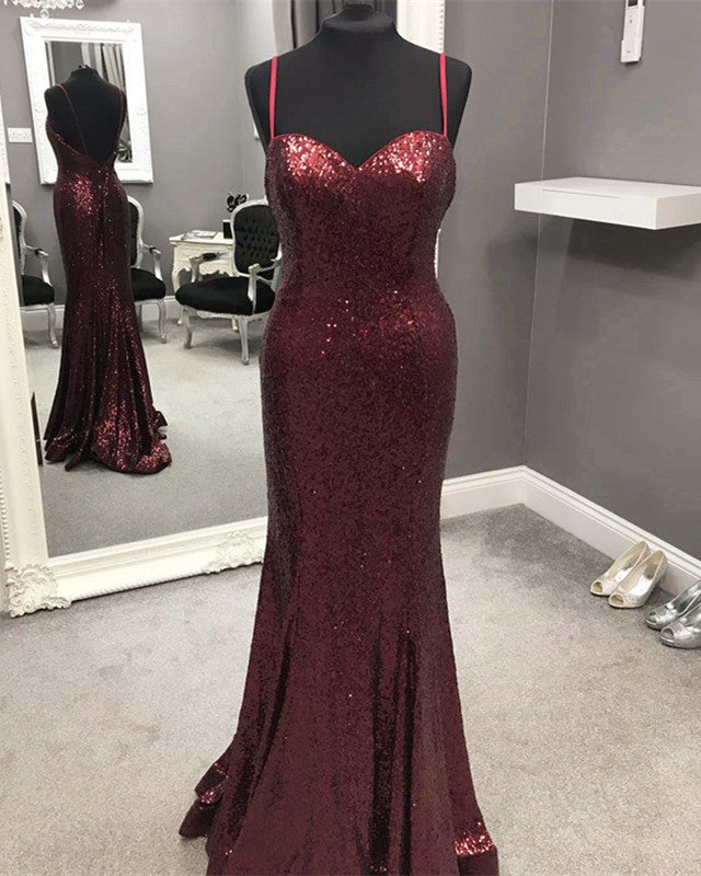 Burgundy-Sequins-Dresses