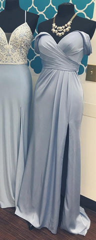 Image of Evening-Dresses-Blue