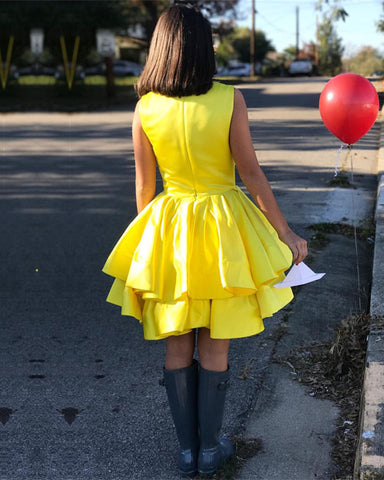 Image of Ruffles-Homecoming-Dresses