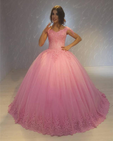 Image of Quinceanera-Dress-Pink