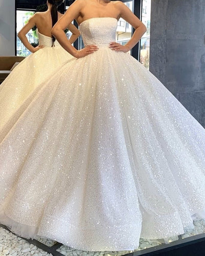Ivory Sequin Ball Gown Wedding Dress 2020