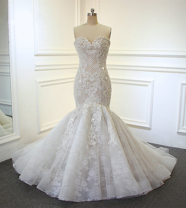 Lace-Mermaid-Wedding-Dresses