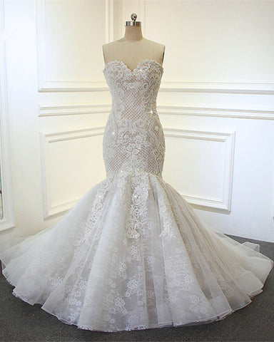 Image of Embroidery-Wedding-Dresses