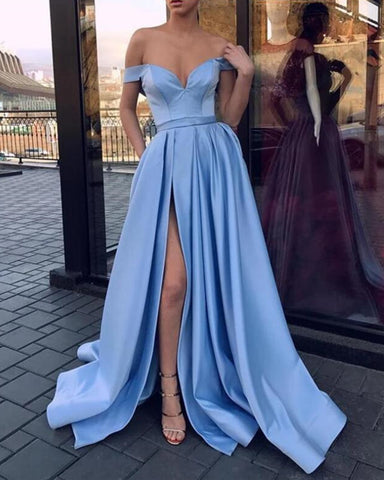 Image of Light Blue Prom Dresses 2020