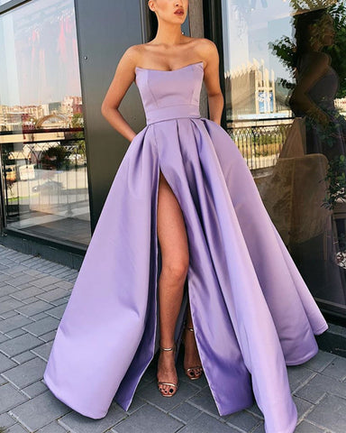 Image of Long Lilac Prom Dresses 2020