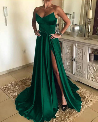 Image of Emerald Green Prom Dresses 2020
