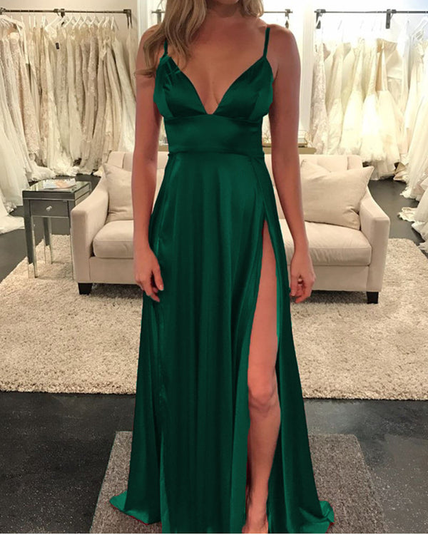 Long Green Prom Dresses 2020