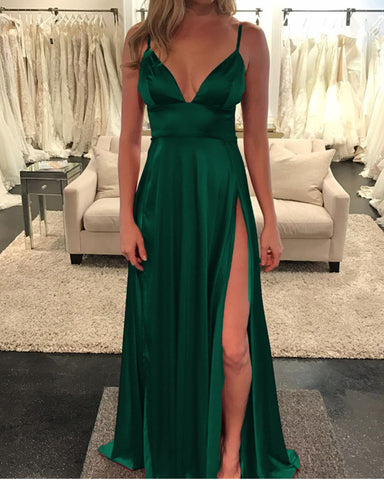 Image of Long Green Prom Dresses 2020