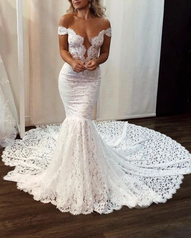 Image of Lace Wedding Dress 2020 Boho Style