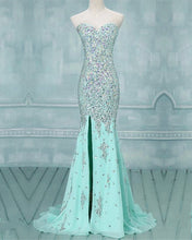 Load image into Gallery viewer, Mint Green Mermaid Prom Dresses 2020