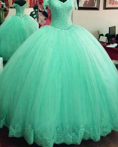Image of Mint Green Quinceanera Dresses