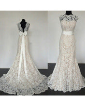 Load image into Gallery viewer, High Neck Mermaid Wedding Dress Vintage