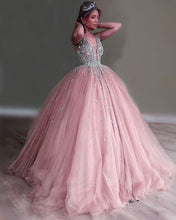 Afbeelding in Gallery-weergave laden, Pink Prom Dresses Ball Gown