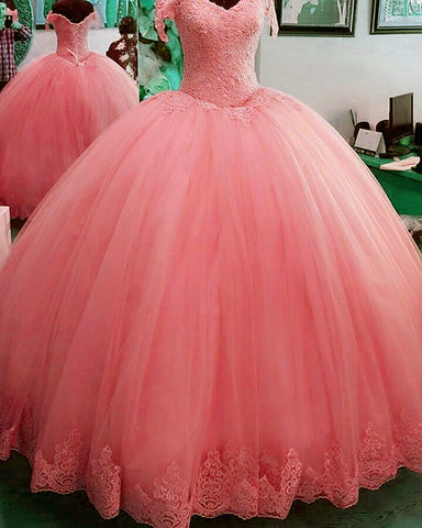 Image of Blush Pink Quinceanera Dresses