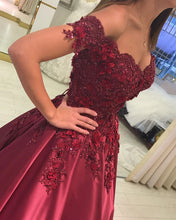 Afbeelding in Gallery-weergave laden, Prom Dresses Burgundy