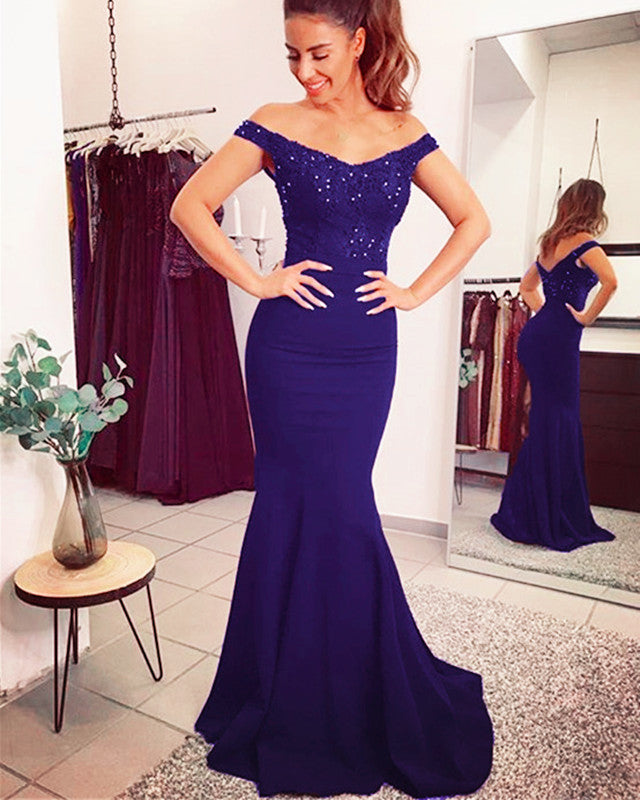 Purple Mermaid Prom Dresses 2020