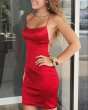 Load image into Gallery viewer, Red Homecoming Dresses 2019
