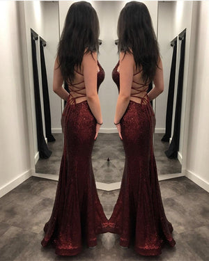 Burgundy Mermaid Prom Dresses 2020