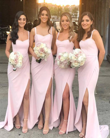 Image of Blush Pink Bridesmaid Dresses 2020