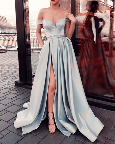 Image of Silver Prom Dresses 2020
