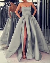 Load image into Gallery viewer, Silver Prom Dresses 2020