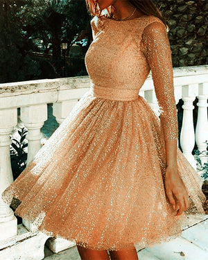 Rose Gold Homecoming Dresses