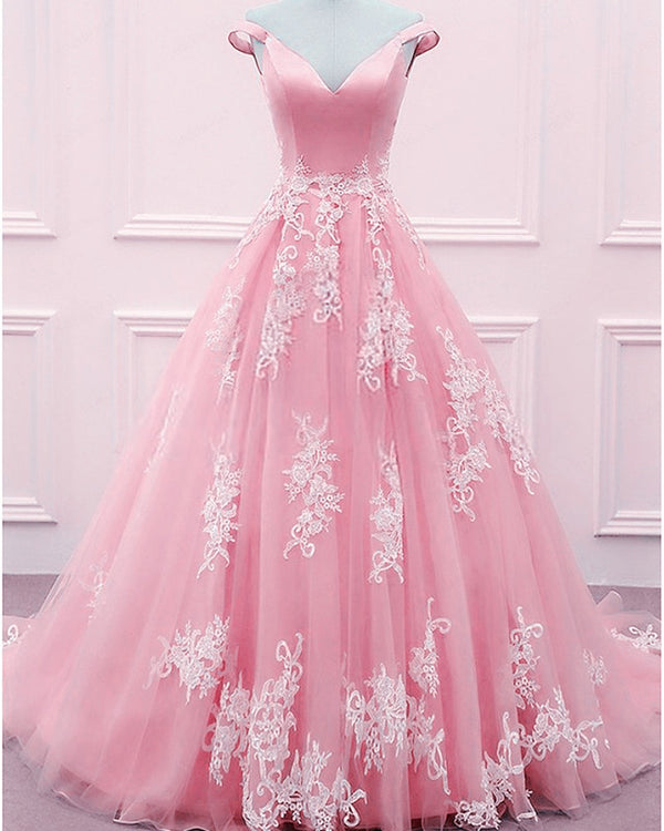 Blush Pink Ball Gowns Prom Dresses 2020
