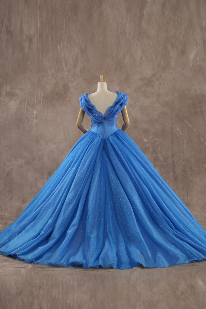 Ice Organza Ball Gowns Cinderella Prom Dresses 2017 Elegant Quinceanera Gowns
