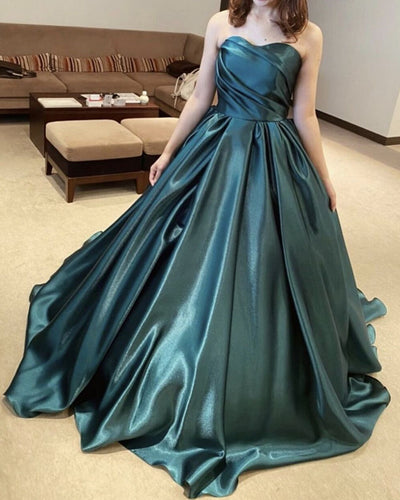 Green Sweetheart Ball Gown