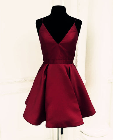 Image of Homecoming-Dresses-Burgundy