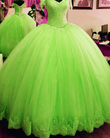 Image of Lime Green Quinceanera Dresses
