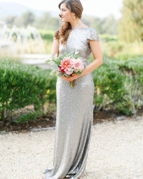 Silver-Bridesmaid-Dresses