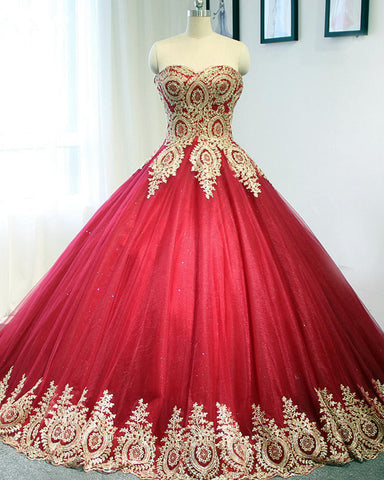 Image of Gold-Lace-Wedding-Dresses