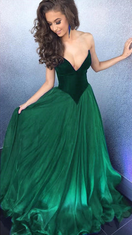Image of Emerald-Green-Formal-Dresses