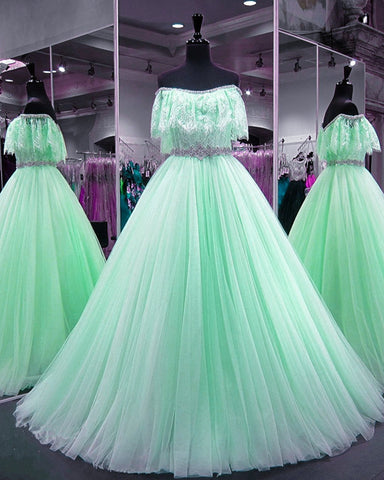 Image of mint-green-prom-dress