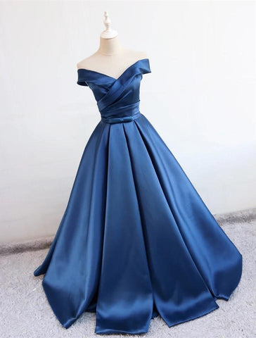 Image of Navy Blue Prom Dresses 2020