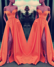 Load image into Gallery viewer, Orange Prom Dresses