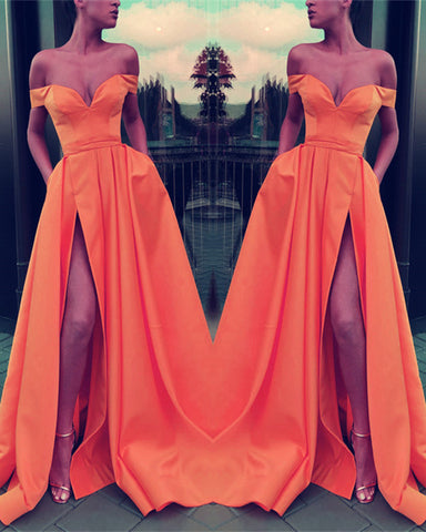 Image of Orange Prom Dresses