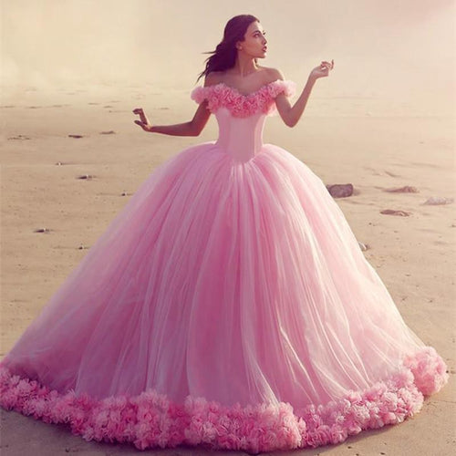 baby pink wedding dresses