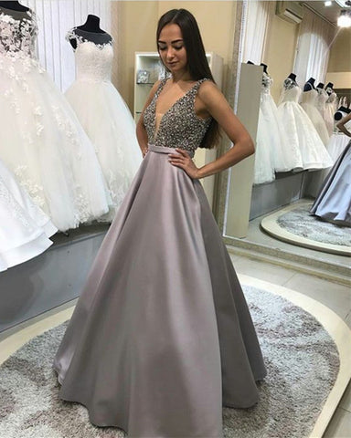 Image of silver-formal-dresses