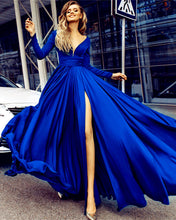 Load image into Gallery viewer, Long-Sleeves-Evening-Dresses
