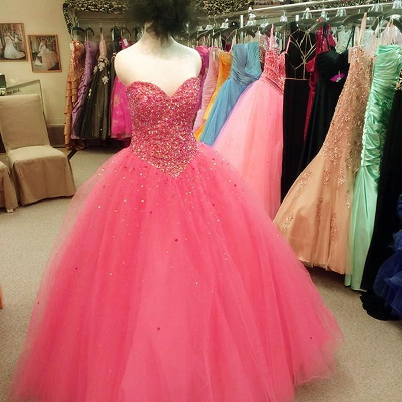 Beading Sweetheart Tulle Ball Gowns Quinceanera Dresses