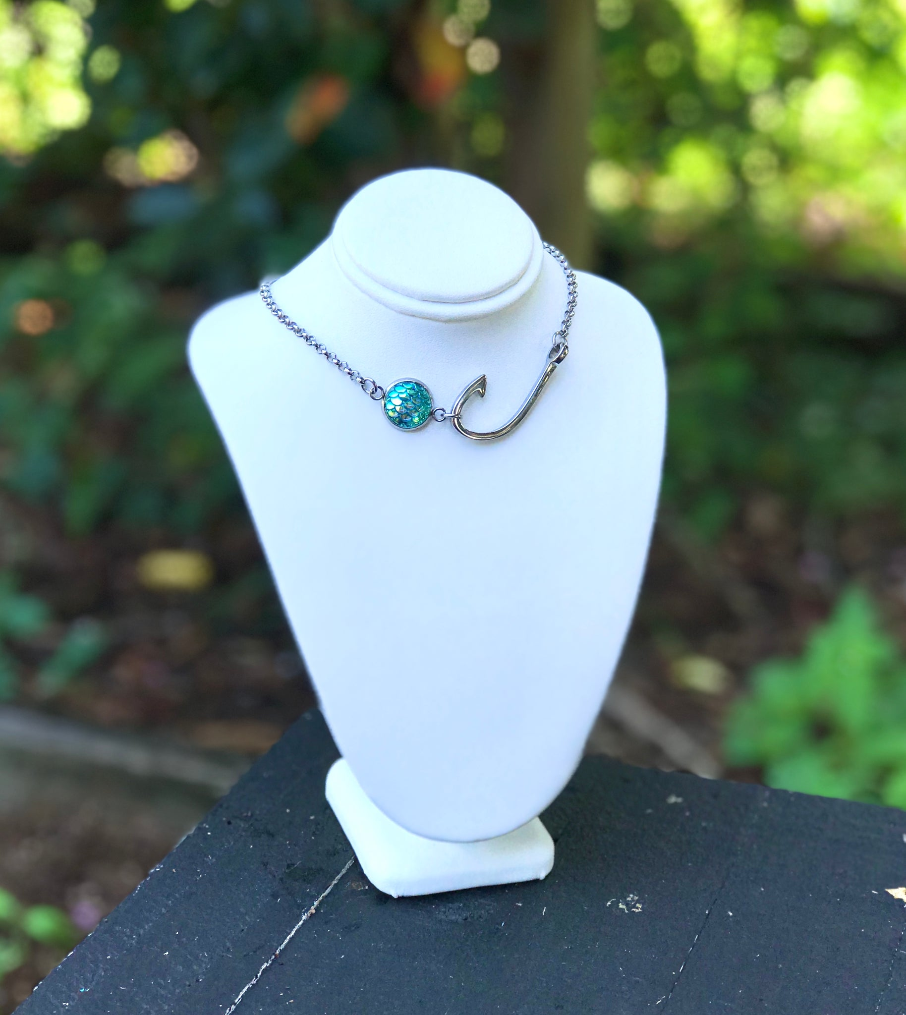 NC109-H - Choker Style 1 Mermaid Scale Necklace Real Mermaid