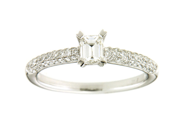 Emerald Cut Engagement Ring | Comet Ring | Engagement Rings Dublin