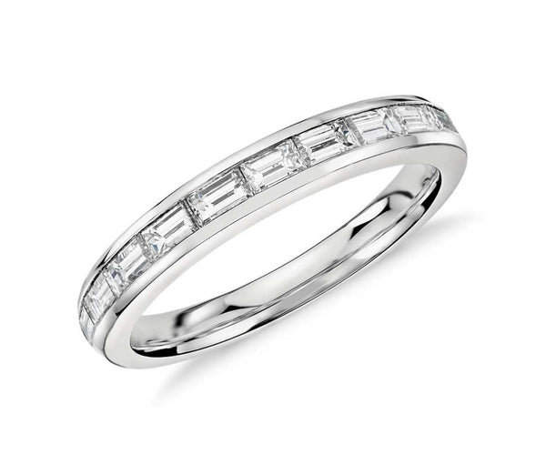 Baguette Cut Eternity Ring End to End