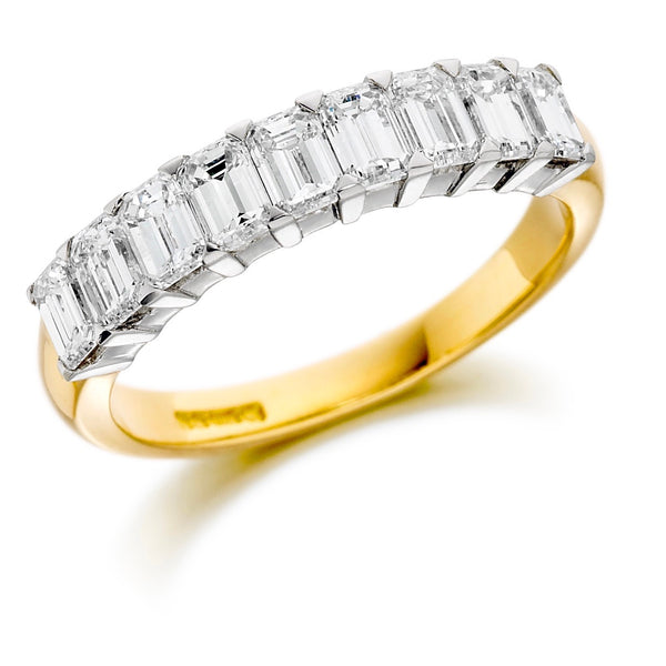 Emerald Cut Wedding Band Ireland | Emerald Cut Eternity Band Ireland
