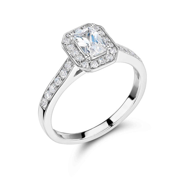 Vintage Surround Radiant Cut Engagement Ring